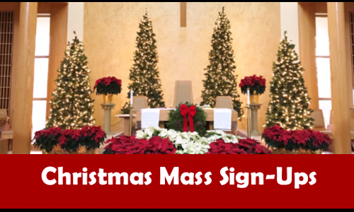 Christmas Mass & Overflow Sign-Ups
