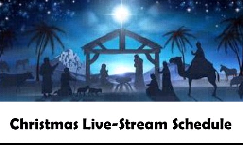 Christmas Live-Stream Schedule