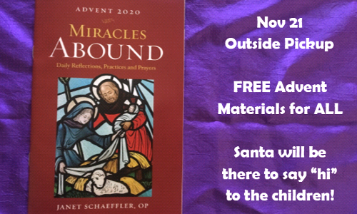 Advent Materials Pickup for ALL Parishioners