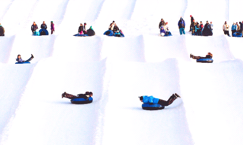 Middle School Snow Tubing