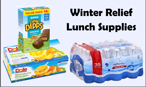 Winter Relief Lunch Supplies - April 2021